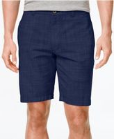 Club Room Men's Crosshatch Flat-Front Shorts, Only at Macy's