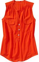 Old Navy Orange Sleeveless Top