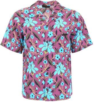 Prada Floral Printed Short-Sleeve Shirt