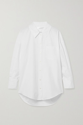 Anine Bing Mika Oversized Cotton-poplin Shirt - White