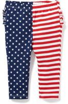 Old Navy Flag-Print Ruffle-Back Leggings for Baby