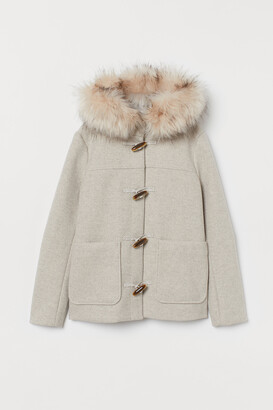 H&M Duffle coat with faux fur