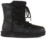 UGG Eliss Leather Lace Boots Noir