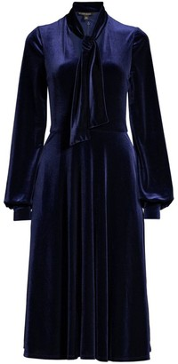 Black Halo Ruby Velvet A-Line Dress