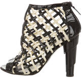 Chanel Patent Leather Caged Booties
