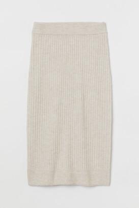 H&M Rib-knit skirt