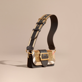 Burberry The Small Buckle Bag in Sequins and House Check