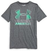 Under Armour Boy's Big Logo Hybrid 2.0 Heatgear T-Shirt