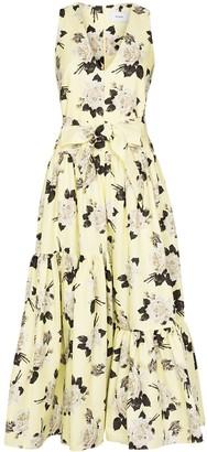 Erdem Mimosa Rosemont print faille dress
