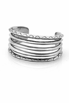 House Of Harlow Etched Stack Cuff in Silver