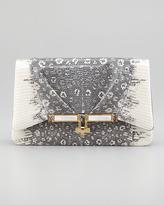 Kara Ross Priscilla Lizard Clutch Bag, Gray