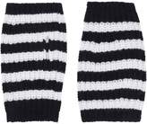Gucci Stripe Wool Cable Knit Fingerless Gloves