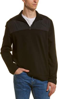 Vince Mixed Media 1/2-Zip Mock Neck Pullover