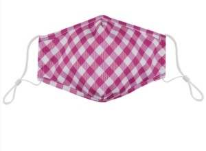 Land of Liberty Adult Gingham-Print Face Mask