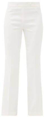 Giambattista Valli Flared Crepe Trousers - Womens - Ivory