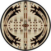 Dakota American Horse Thieves Rug, Natural, 8'x8' Round, Round