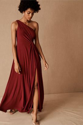 BHLDN Brixen One-Shoulder Maxi Dress