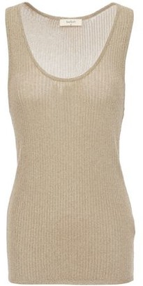 BA&SH Metallic Ribbed-knit Tank