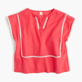 J.Crew Girls' embroidered gauze tunic