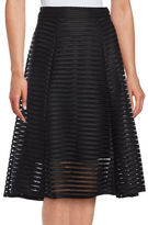 Marina Mesh-Accented A-Line Skirt