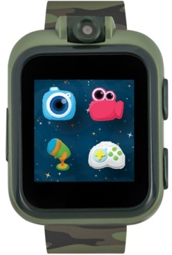 iTouch Kids PlayZoom Dark Olive Camouflage Strap Touchscreen Smart Watch 42x52mm