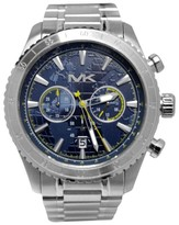 Michael Kors MK8351 Richardson Chronograph Blue Dial Stainless Steel Mens Watch
