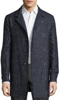 Etro Striped Wool-Blend Trench Coat