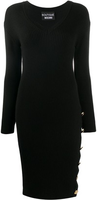 Boutique Moschino Side-Button Dress