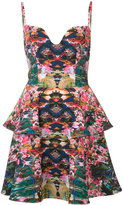 Black Halo printed spaghetti-strap dress - women - Spandex/Elastane/Polyimide - 6