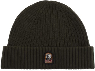 Parajumpers Ribbed Beanie Hat Green