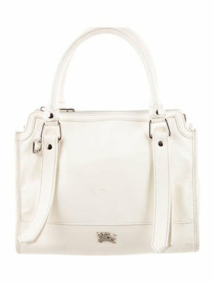 Burberry Small Pilgrim Satchel silver