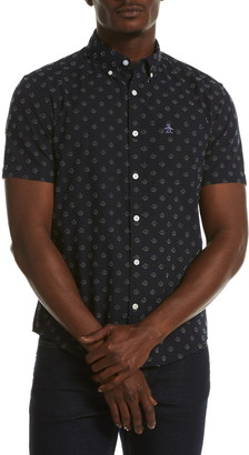 Original Penguin Heritage Fit Short Sleeve Dobby Cotton Button-Down Shirt