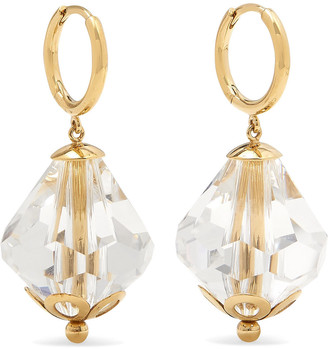 Simone Rocha Gold-tone Crystal Hoop Earrings