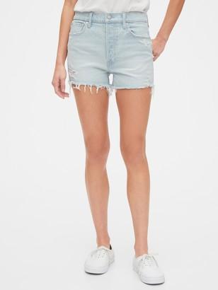 Gap High Rise Curvy Cheeky Shorts with Raw Hem