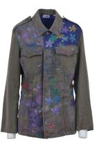Bebe Military Jacket With Flowers