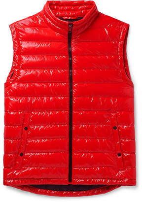 HUGO BOSS Quilted Glossed-Shell Gilet