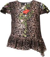 Preen by Thornton Bregazzi python print blouse