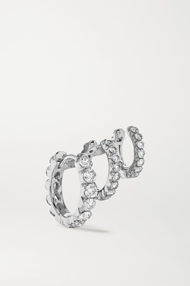 Maria Tash Eternity 18-karat White Gold Diamond Hoop Earring - L