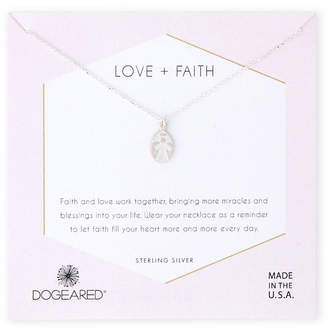 Dogeared Sterling Silver Love + Faith My Angel Necklace