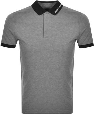Calvin Klein Jeans Contrast Polo T Shirt Grey