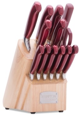 Hampton Forge Argentum Red 14-Pc. Cutlery Block Set