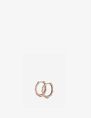 Monica Vinader Siren 18ct rose gold-plated hoop earrings