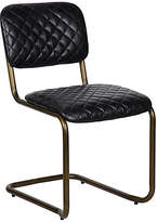 Noir Dianne Side Chair - Black Leather