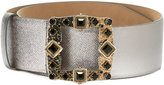 Dolce & Gabbana jewel buckle belt - women - Calf Leather - 75