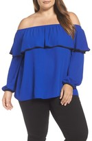 Vince Camuto Plus Size Women's Ruffle Off The Shoulder Blouse
