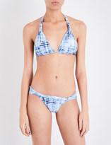 Vix Ladies Blue Knot Rustic Bia Bikini Top