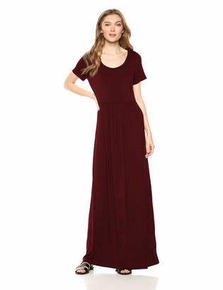 Daily Ritual Amazon Brand Women's Jersey Short-Sleeve Scoop-Neck Empire-Waist Maxi Dress