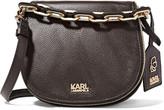 Karl Lagerfeld Textured-leather shoulder bag