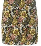 Dorothy Perkins Womens Yellow Jacquard Mini Skirt