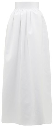 Christopher Kane Puffed Satin Maxi Skirt - Womens - Ivory